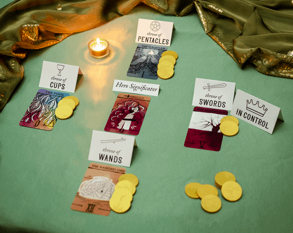 a tarot spread set for Divination RPG